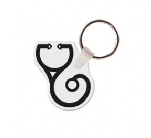 Stethoscope Soft Vinyl Key Tag