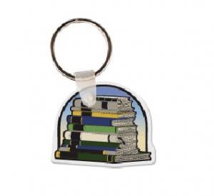 Stack of Books Soft Vinyl Keychain