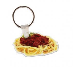 Spaghetti Vinyl Key Tag