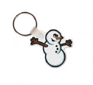 Snowman Vinyl Key Tag