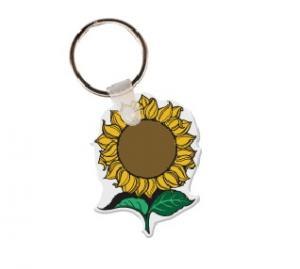 Sunflower Soft Vinyl Key Tag