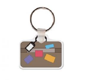 Suitcase Soft Vinyl Keychain
