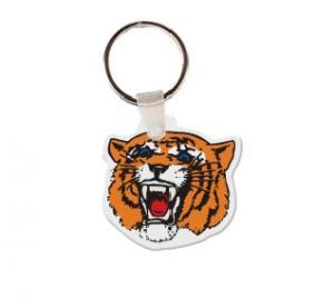 Tiger Head Soft Vinyl Keychain