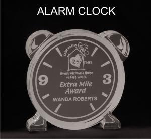Alarm Clock Shaped Acrylic Award/Paperweight