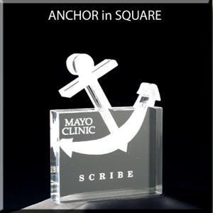 Anchor Shaped Acrylic Award/Paperweight