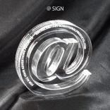 At Sign Shaped Acrylic Award/Paperweight