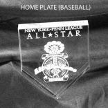 Baseball Home Plate Shaped Acrylic Award/Paperweight