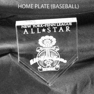 Baseball Home Plate Shaped Acrylic Award/Paperweight