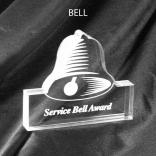 Bell Shaped Acrylic Award/Paperweight