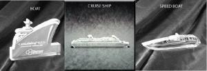Boat Shaped Acrylic Award/Paperweight