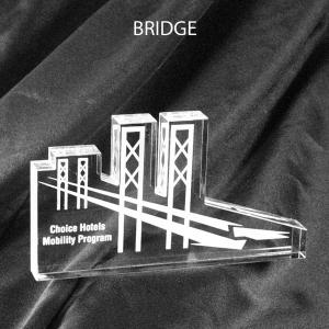 Bridge Shaped Acrylic Award/Paperweight