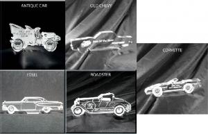 Vintage Car Shaped Acrylic Awards/Paperweights