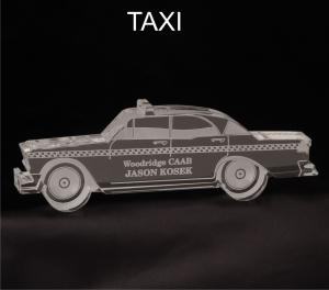 Taxi Cab Shaped Acrylic Award/Paperweight