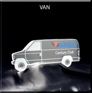 Van Shaped Acrylic Award/Paperweight