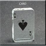 Playing Card Shaped Acrylic Award/Paperweight