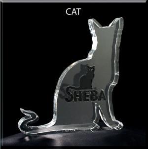 Cat Shaped Acrylic Award/Paperweight