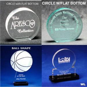 Circle Shaped Acrylic Awards/Paperweights