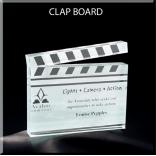 Clapboard Shaped Acrylic Award/Paperweight