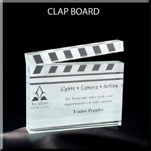 Clapboard Shaped Acrylic Award/Paperweight