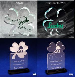 Clover Shaped Acrylic Award/Paperweight