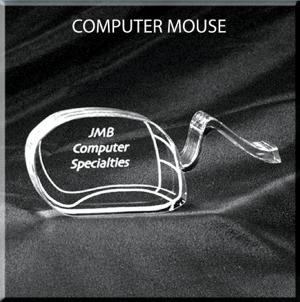 Computer Mouse Shaped Acrylic Award/Paperweight