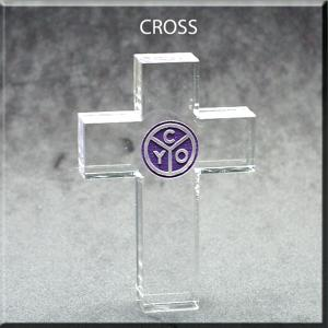 Cross Shaped Acrylic Award/Paperweight