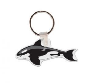Killer Whale Soft Vinyl Key Tag