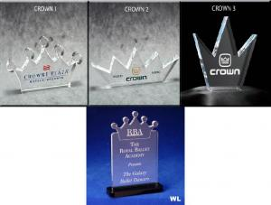 Crown Shaped Acrylic Award/Paperweight