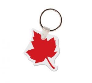 Maple Leaf Soft Vinyl Key Tag