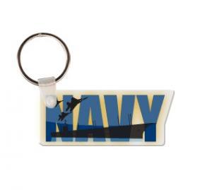 Navy Soft Vinyl Key Tag