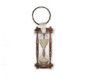 Hour Glass Soft Vinyl Key Tag