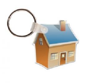 3D House Soft Vinyl Keychain