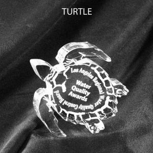 Turtle Shaped Acrylic Award/Paperweight
