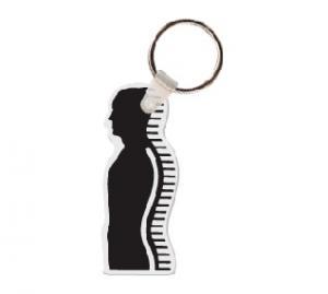 Body Profile Logo Soft Vinyl Keychain