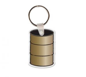 Barrel  Logo Soft Vinyl Keychain