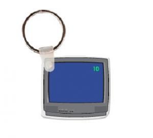 Television Logo Soft Vinyl Keychain