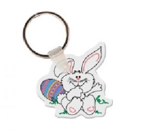 Easter Bunny Logo Soft Vinyl Keychain