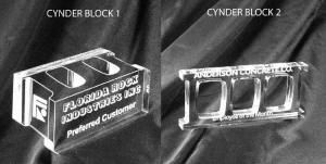 Cinder Block Shaped Acrylic Award/Paperweight