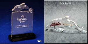 Dolphin Sign Shaped Acrylic Award/Paperweight