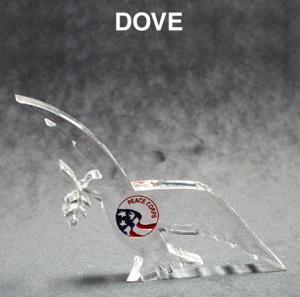 Dove Shaped Acrylic Award/Paperweight