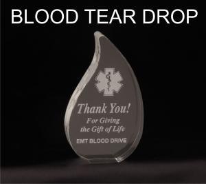 Blood Drop/Tear Shaped Acrylic Award/Paperweight
