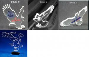 Eagle Shaped Acrylic Award/Paperweight