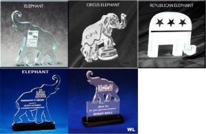 Elephant Shaped Acrylic Award/Paperweight
