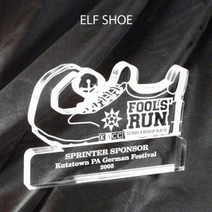 Elf Shoe Shaped Acrylic Award/Paperweight