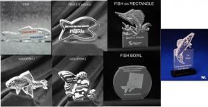 Fish Shaped Acrylic Award/Paperweight