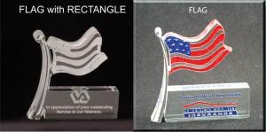 American Flag Shaped Acrylic Award/Paperweight