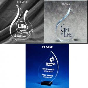 Flame Shaped Acrylic Award/Paperweight