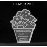 Flower Pot Shaped Acrylic Award/Paperweight