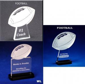 Football Shaped Acrylic Award/Paperweight