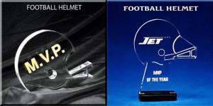 Football Helmet Shaped Acrylic Award/Paperweight